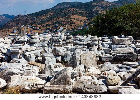 Ancient Ruins in Selcuk, near Ephesus in Turkey