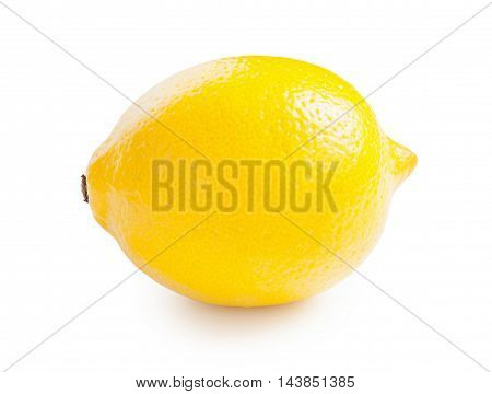 Lemon. Beautiful ripe lemon isolated on white background