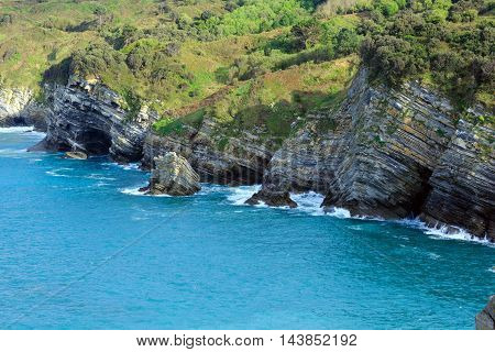 Summer Ocean Rocky Coast (spain).