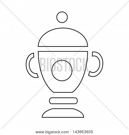 Funeral urn for ashes icon in outline style isolated on white background