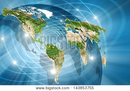 Physical world map illustration. Elements of this image furnished by NASA