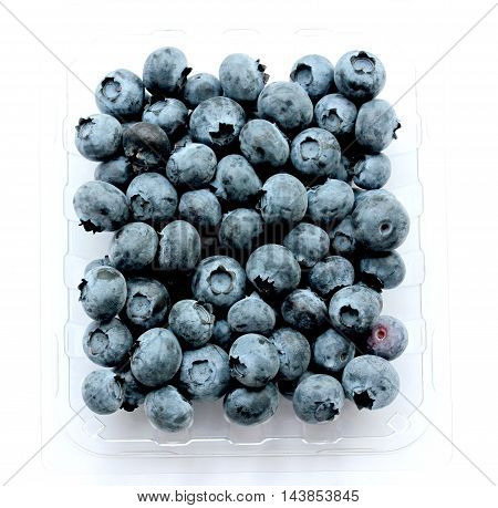 blueberry (bog whortleberry great bilberry) isolated on white background