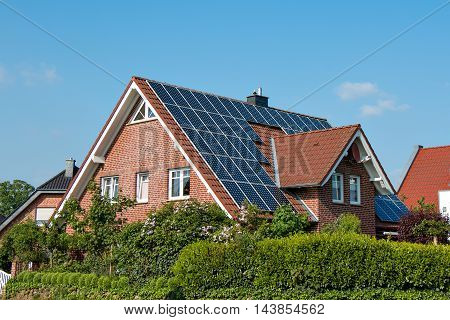 Solar Roof On A Single House
