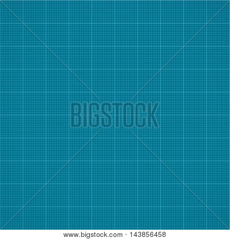 Seamless millimeter grid. Graph paper. Vector engineering paper dark blue and white color