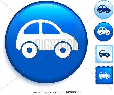 Car Icon on Internet Button Original Vector Illustration
