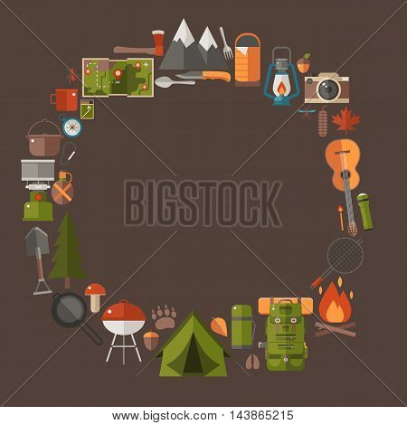 Camping And Hiking Lifestyle Background