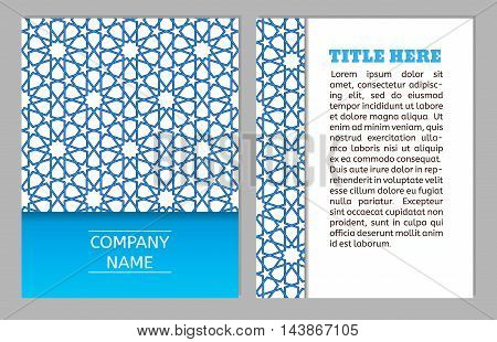 Cards collection delicate geometric stars pattern. Vector background. Business Card or invitation. Vintage decorative elements. Hand drawn background. Islam arabic indian ottoman motifs.