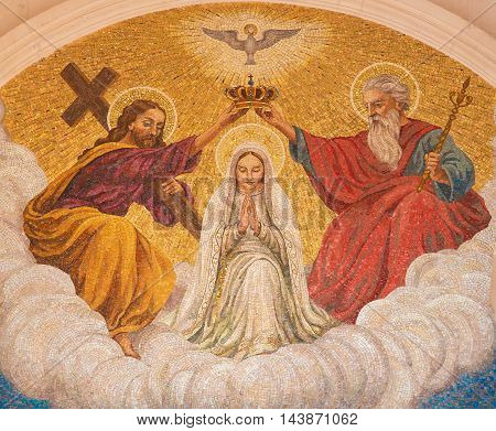 Coronation Of Mother Mary By The Holy Trinity