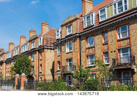 Typical Block of Houses Dublin Ireland Brick Architecture