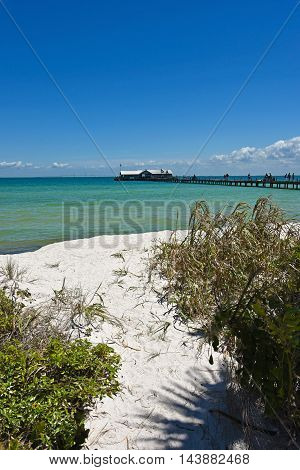 Historic Anna Maria City Fishing Pier on Anna Maria Island Florida