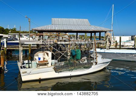 Commercial Fishing Boats tied up at the Marina