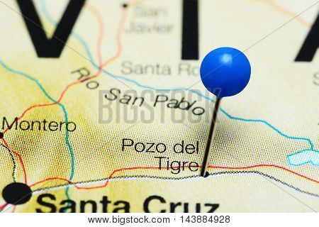 Pozo del Tigre pinned on a map of Bolivia