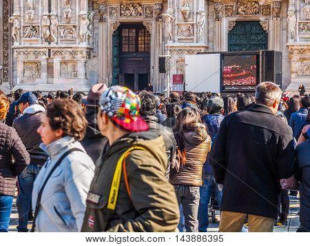 Mass At Duomo Di Milano (hdr)