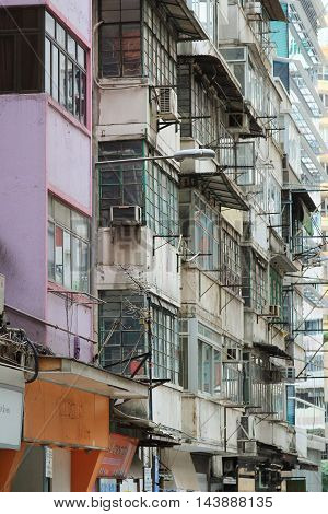 Tong lau / Kee lau / Qilou / tenement building in Hong Kong