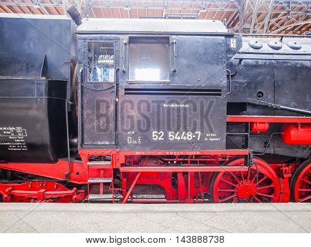 Historical Dr Locomotive In Leipzig Hbf (hdr)