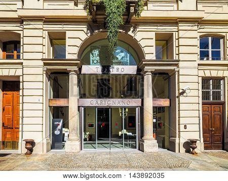 Teatro Carignano Theatre In Turin (hdr)