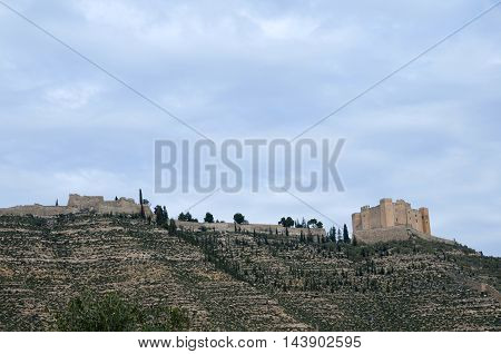 Medieval Castle of Mequinenza built between XIV and XV centuries.