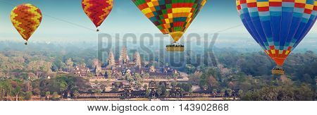 Angkor Wat Khmer Temple Complex, Siem Reap, Cambodia.