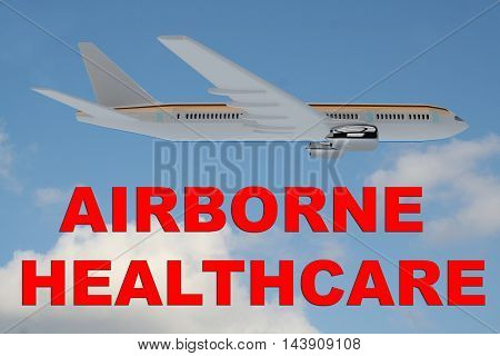 Airborne Healthcare Concept