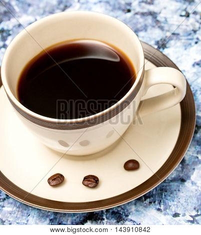 Black Coffee Break Means Breaktime Caffeine And Cafeterias