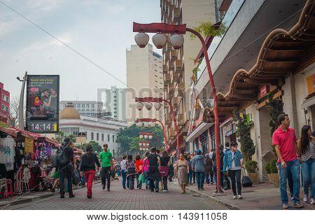 Sao Paulo - May 07, 2016 -  Bairro Da Liberdade, Famous District Oriental Located In The City Of São