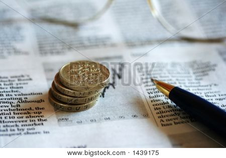 Business 1 Coins Glasses  Pen 2