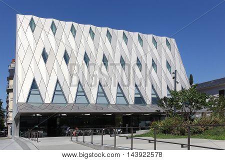 Geneva, Switzerland - August 14, 2016: Geneva Ethnography Museum also called MEG. Geneva Ethnography Museum is one of the most important ethnographic museums in Switzerland