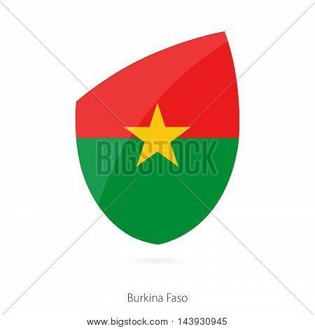 Flag Of Burkina Faso. Burkina Faso Rugby Flag.