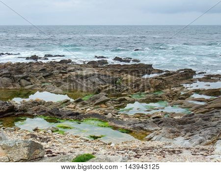 coastal scenery near a commune named Quiberon in the Morbihan department in Brittany France