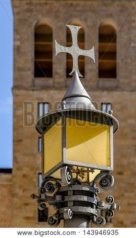 Street lamp outisde the monastary at Montserrat in Spain.