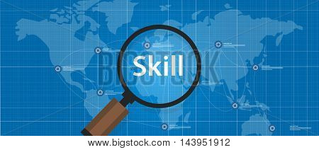 skill shortages find search talented worker qualification vector