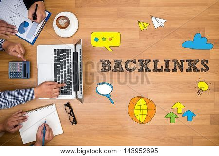 Backlinks Technology  Web Concept