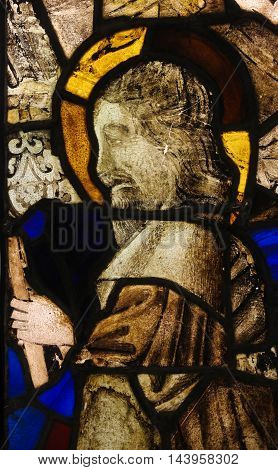 Stained Glass In Batalha Monastery - Old Testament Prophet