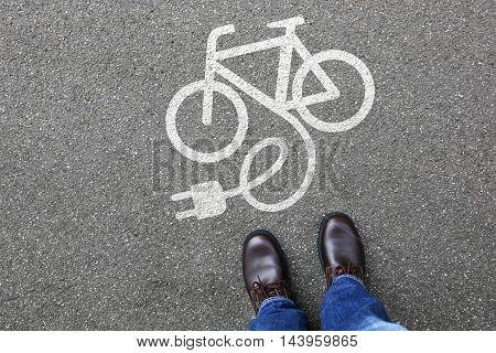 Man People E-bike E Bike Ebike Electric Bike Electro Bicycle Eco Friendly