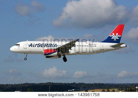 Air Serbia Airbus A320 Airplane Zurich Airport