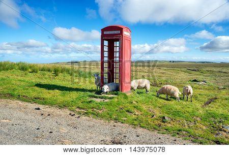 Red Phone Box On The Isle Of Skye