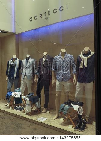 Clothes On Display In A Store In Siena