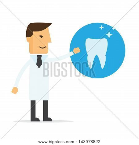 Dentist a doctor and tooth vector eps 10