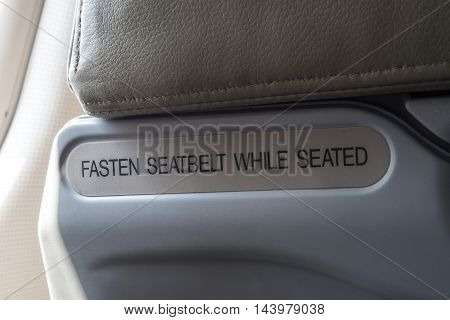 warning in flight for about  safety travel.