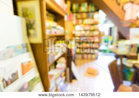 Blurred Background Of People Read A Book