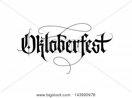 Oktoberfest lettering. Oktoberfest design element. Typed text. For invitations, tickets, banners, posters, leaflets and brochure.