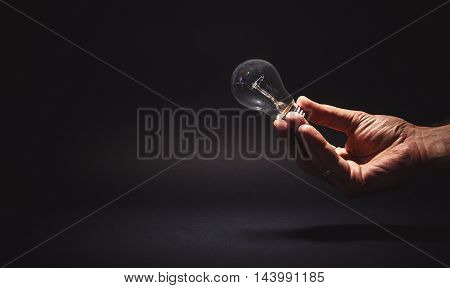 Male Hand Holding A Bulb