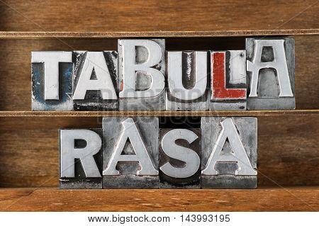Tabula Rasa-blank State