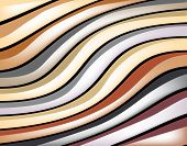 Abstract editable vector background design of colorful glossy stripes poster