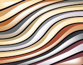 Abstract background design of colorful glossy stripes poster