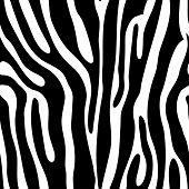Seamless tiling animal print zebra vector illustration poster
