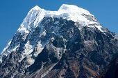 Summit of Mt. Langshisha Ri from Langtang Valley Langtang National Park Rasuwa District Bagmati Nepal. poster