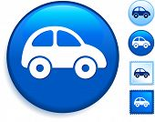 Car Icon on Internet Button Original Vector Illustration poster