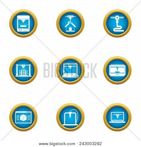 Land Development Icons Set. Flat Set Of 9 Land Development Vector Icons For Web Isolated On White Ba