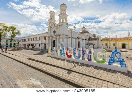 Latacunga Ecuador May 2018 Latacunga Ecuador May 2018 This Church Is Located In The Historic Center